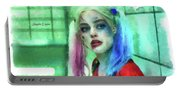 Talking To Harley Quinn - Aquarell Style Portable Battery Charger