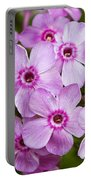 Tall Garden Phlox Portable Battery Charger