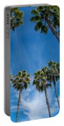 Tall Palms Meet The Sky Portable Battery Charger