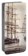 Tall Ships Portable Battery Charger by James Williamson