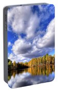 Tamarack Reflections In The Adirondacks Portable Battery Charger