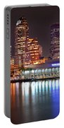 Tampa Skyline At Night Early Evening Portable Battery Charger