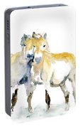 Tan Horses Portable Battery Charger