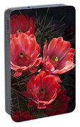 Tangerine Cactus Flower Portable Battery Charger