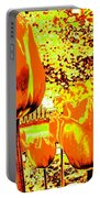 Tangerine Tulips Portable Battery Charger