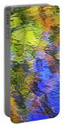 Tangerine Twist Mosaic Abstract Art Portable Battery Charger