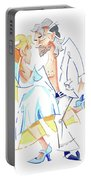 Tango Nuevo - Gancho Step - Dancing Illustration Portable Battery Charger