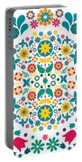 Flores Y Aves Portable Battery Charger