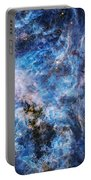 Tarantula Nebula In Blue Portable Battery Charger