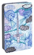 Tarot Of The Younger Self Ace Of Swords Portable Battery Charger