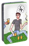 Tarot Of The Younger Self Four Of Cups Portable Battery Charger