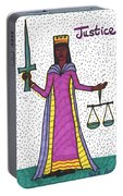 Tarot Of The Younger Self Justice Portable Battery Charger