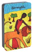 Tarot Of The Younger Self Strength Portable Battery Charger