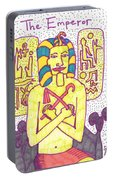 Tarot Of The Younger Self The Emperor Portable Battery Charger