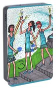 Tarot Of The Younger Self Three Of Cups Portable Battery Charger