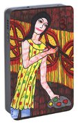 Tarot Of The Younger Self Three Of Pentacles Portable Battery Charger