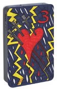 Tarot Of The Younger Self Three Of Swords Portable Battery Charger
