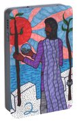 Tarot Of The Younger Self Two Of Wands Portable Battery Charger