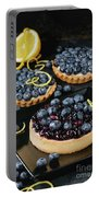 Tart With Blueberries Portable Battery Charger