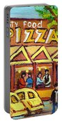 Tasty Food Pizza On Decarie Blvd Portable Battery Charger