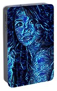 Tatto Lady With The Blues Portable Battery Charger