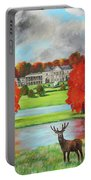 Tatton Hall In Autumn Portable Battery Charger