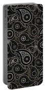 Taupe Brown Paisley Design Portable Battery Charger