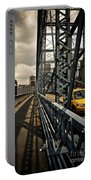 Taxi Crossing Smithfield Street Bridge Pittsburgh Pennsylvania Portable Battery Charger