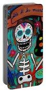 Te Amo Painter Dia De Los Muertos Portable Battery Charger