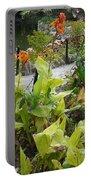 Tea Garden At San Antonio Zoo Crosswalk Portable Battery Charger