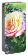 Tea Rose For A Lady Portable Battery Charger