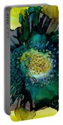 Teal Bloom Portable Battery Charger