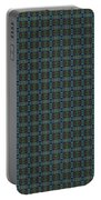 Teal Diamond Crackle From Sunset Strip Portable Battery Charger