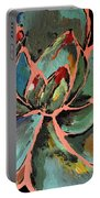 Teal Pink Succulent Portable Battery Charger