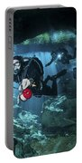 Technical Divers Enter The Cavern Portable Battery Charger by Karen Doody