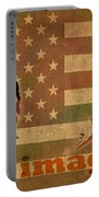 Ted Cruz For President Imagine Speech 2016 Usa Watercolor Portrait On Distressed American Flag Portable Battery Charger