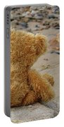 Teddy On A Beach Portable Battery Charger