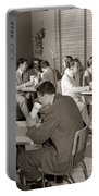 Teens At A Diner, C. 1950s Portable Battery Charger