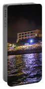 Tel Aviv Port At Night Portable Battery Charger
