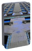 Telephone Building With Indigo Reflections Portable Battery Charger