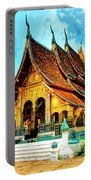 Temple In Laos Portable Battery Charger