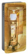 Temple Of Karnak  Portable Battery Charger