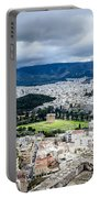 Temple Of Zeus - View From The Acropolis Portable Battery Charger