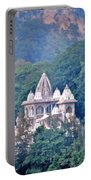 Temple In The Distance - Rishikesh India Portable Battery Charger