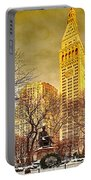 Ten Past Four At Madison Square Park Portable Battery Charger