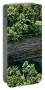 Tennessee River Gorge And Waterfall Panorama Portable Battery Charger