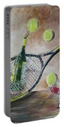 Tennis And Wine Portable Battery Charger