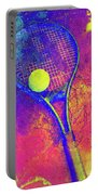 Tennis Art Version 1 Portable Battery Charger