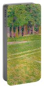 Tennis At Hertingfordbury Portable Battery Charger by Spencer Frederick Gore