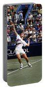 Tennis Serve Portable Battery Charger by Sally Weigand